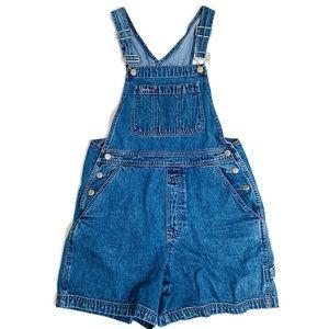 Gap short denim overalls size S